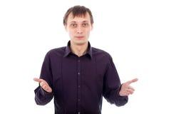 Homem confuso engraçado do lerdo Foto de Stock