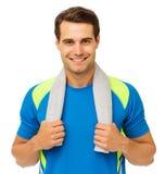 Homem considerável com a toalha em torno do pescoço Foto de Stock Royalty Free