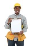 Homem considerável da construção Fotografia de Stock