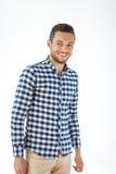 Homem considerável de sorriso no fundo branco fotos de stock royalty free