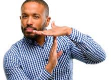 Homem considerável do americano africano fotografia de stock
