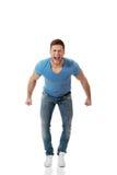 Homem considerável que grita ruidosamente Imagem de Stock