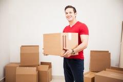 Homem considerável que move-se dentro Foto de Stock Royalty Free