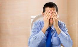 Homem constipado Imagens de Stock
