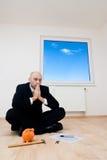 Homem contemplativo Foto de Stock