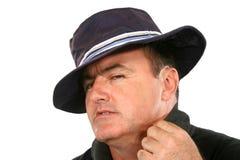 Homem cortês no chapéu fotografia de stock royalty free