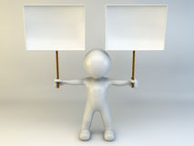homem 3D Fotografia de Stock Royalty Free
