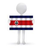 homem 3d que guarda uma bandeira de Costa Rica Fotos de Stock
