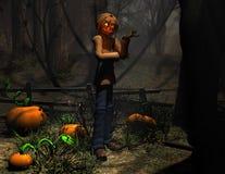 Homem da abóbora do caráter de Halloween Fotografia de Stock