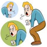 Homem da asma Fotos de Stock Royalty Free