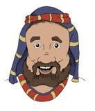 Homem da Bíblia dos desenhos animados Fotografia de Stock Royalty Free
