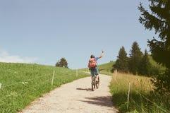 Homem da bicicleta Fotografia de Stock Royalty Free