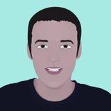 Homem da cara do vetor. elemento do projeto Imagens de Stock