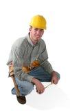Homem da construção fotografia de stock