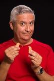Homem da cookie de fortuna Fotos de Stock