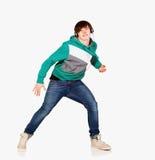 Homem da dança nos auscultadores Imagens de Stock Royalty Free