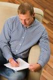 Homem da escrita Foto de Stock Royalty Free