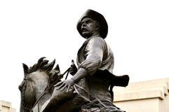Homem da estátua de Waco no cavalo foto de stock royalty free