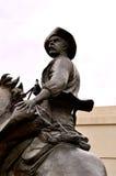 Homem da estátua de Waco no cavalo foto de stock