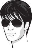 Homem da face do vetor. elemento do projeto ilustração royalty free