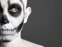 Homem da face pintado com um crânio 4 Fotografia de Stock Royalty Free