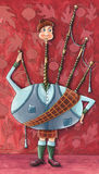 Homem da gaita de fole ilustração royalty free