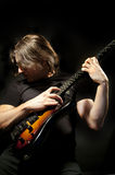 Homem da guitarra Fotos de Stock Royalty Free
