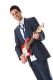 Homem da guitarra foto de stock royalty free
