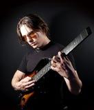 Homem da guitarra Fotos de Stock