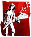 Homem da guitarra Imagem de Stock Royalty Free
