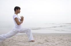 Homem da ioga Foto de Stock Royalty Free