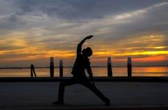 Homem da ioga Fotografia de Stock
