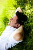 Homem da ioga da natureza Imagem de Stock