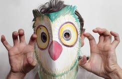 Homem da máscara da coruja Foto de Stock Royalty Free