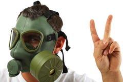 Homem da máscara de gás Fotografia de Stock