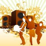 Homem da música ilustração royalty free