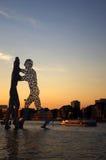 Homem da molécula no treptow de Berlim Imagem de Stock Royalty Free