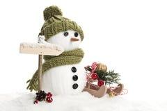 Homem da neve Fotografia de Stock
