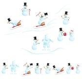 Homem da neve do Natal Fotografia de Stock
