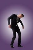 Homem da pose do marionete fotografia de stock