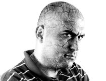 Homem da raiva Imagem de Stock Royalty Free
