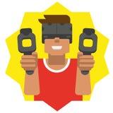 Homem da realidade virtual Fotos de Stock Royalty Free
