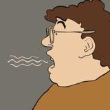 Homem da respiração ilustração royalty free