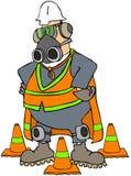 Homem da segurança ilustração stock