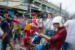 Homem da serpente de Songkran Foto de Stock
