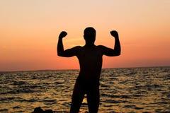Homem da sombra Imagens de Stock