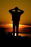 Homem da sombra Foto de Stock