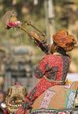 Homem da trombeta Fotos de Stock Royalty Free