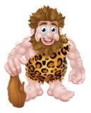 Homem das cavernas dos desenhos animados com clube Imagens de Stock Royalty Free