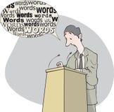 Homem das palavras ilustração royalty free